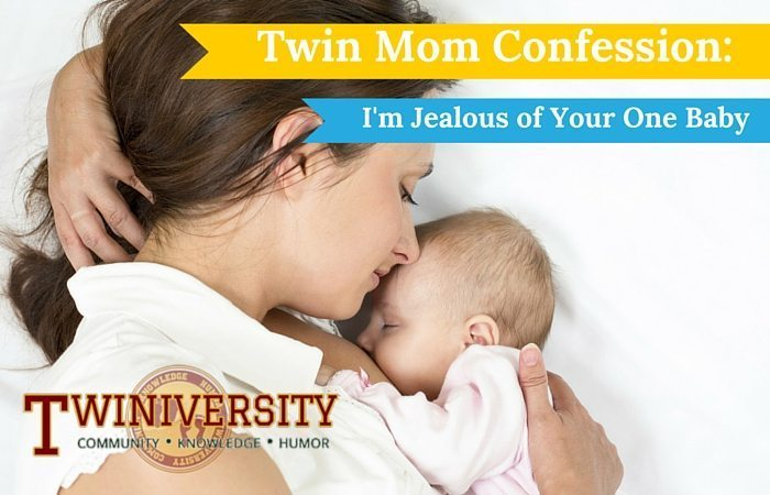 Twin Mom Confession: I'm jealous of your one baby