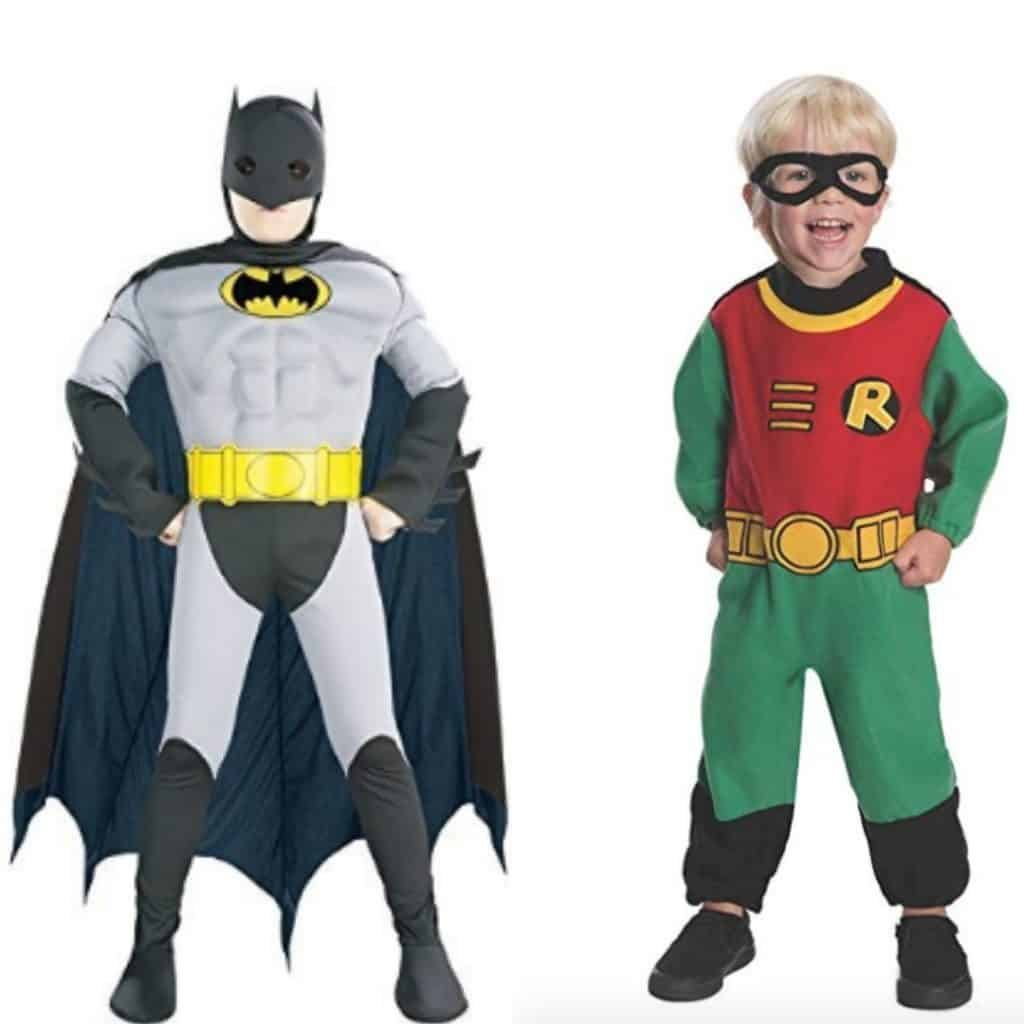 twin super hero halloween costumes