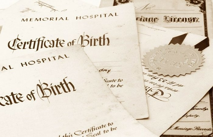 birth certificate paperwork