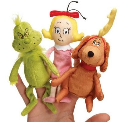 Manhattan Toy Co Grinch finger puppets