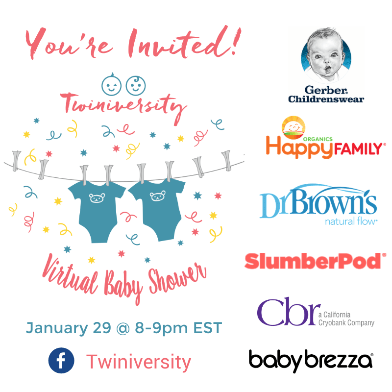 You're Invited! Virtual Baby Shower Jan 29 @ 8 pm ET