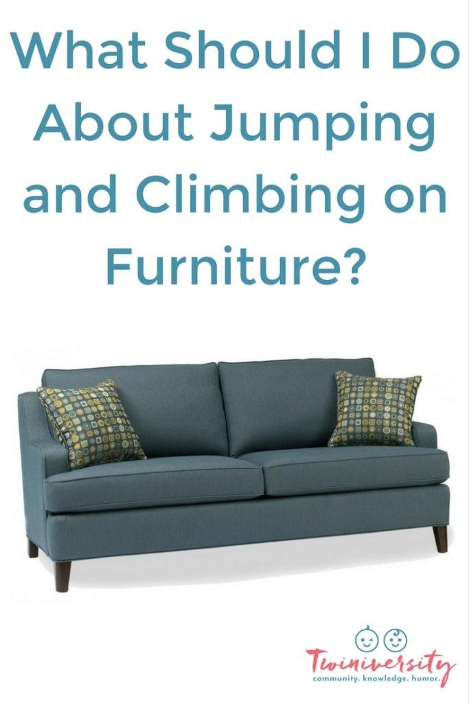 climbing on furniture
