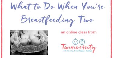 breastfeeding twins class