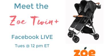 zoe twin+ stroller facebook live
