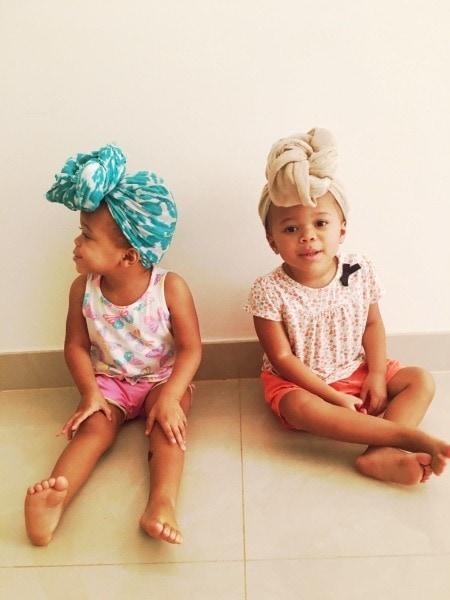 twin girls raising kids away from family