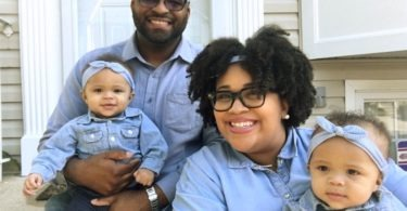 parents with baby twins raising kids away from family