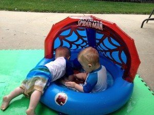 baby pool twins boys