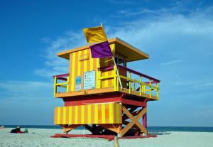 lifeguard station beach