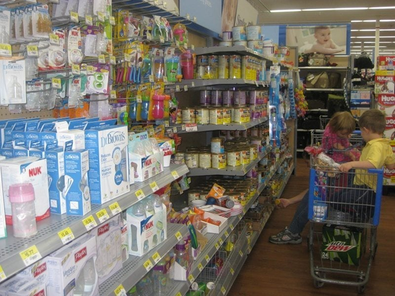 baby store aisle don't need when you're having twins