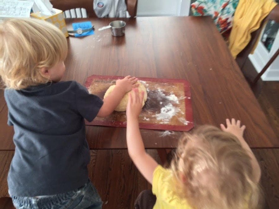 Baking from Scratch with Toddler Twins