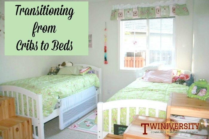 transitioning twins from cot to bed 2