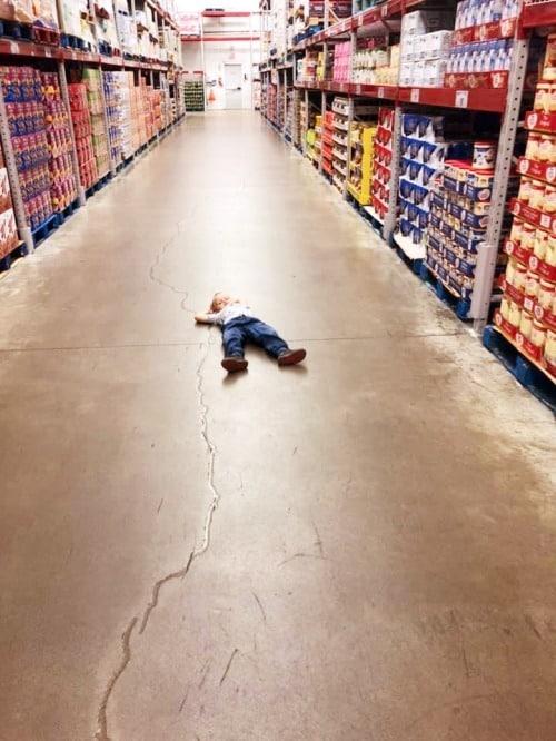 child having tantrum in costco get easier