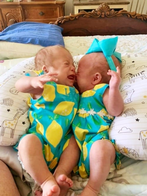 get easier newborn twins crying