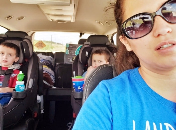 mom in car with toddler twins get easier