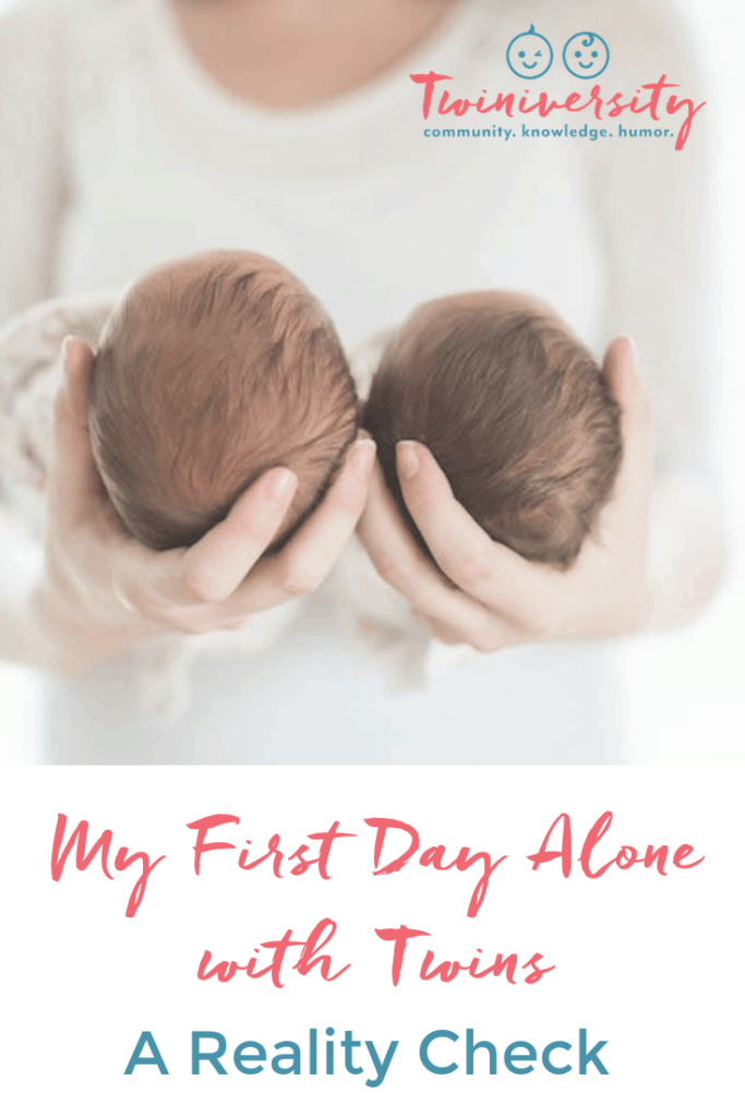 first day alone with twins