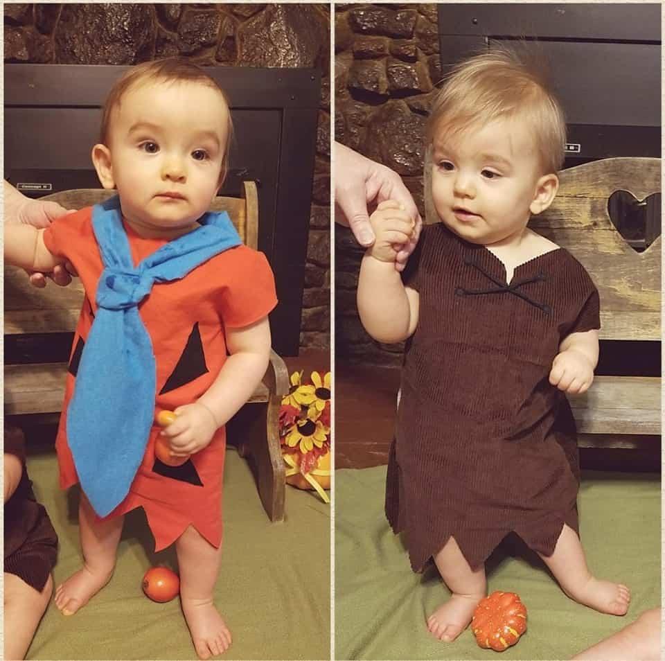 twin halloween costumes the flintstones