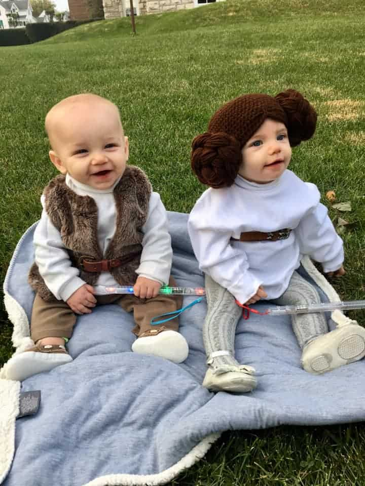 twin halloween costumes star wars babies