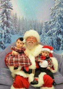 holidaychristmassantatwinsbaby