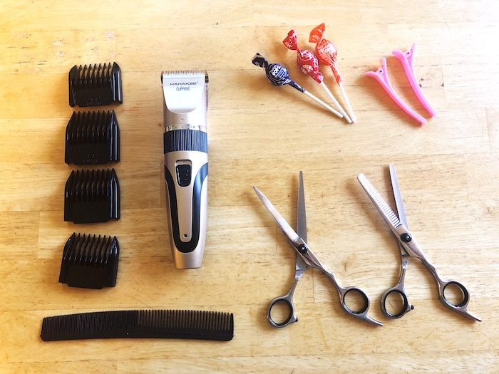 how to cut hair at home 2