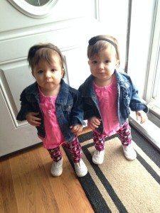Meghan's twin girls
