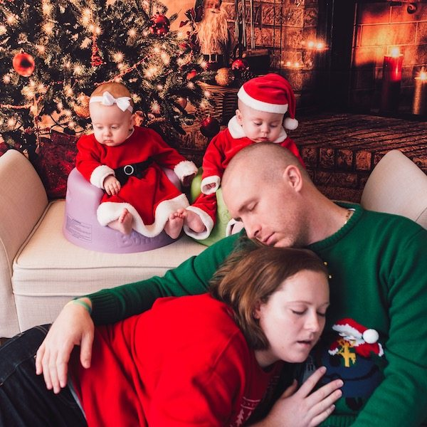 holidays with newborn twins