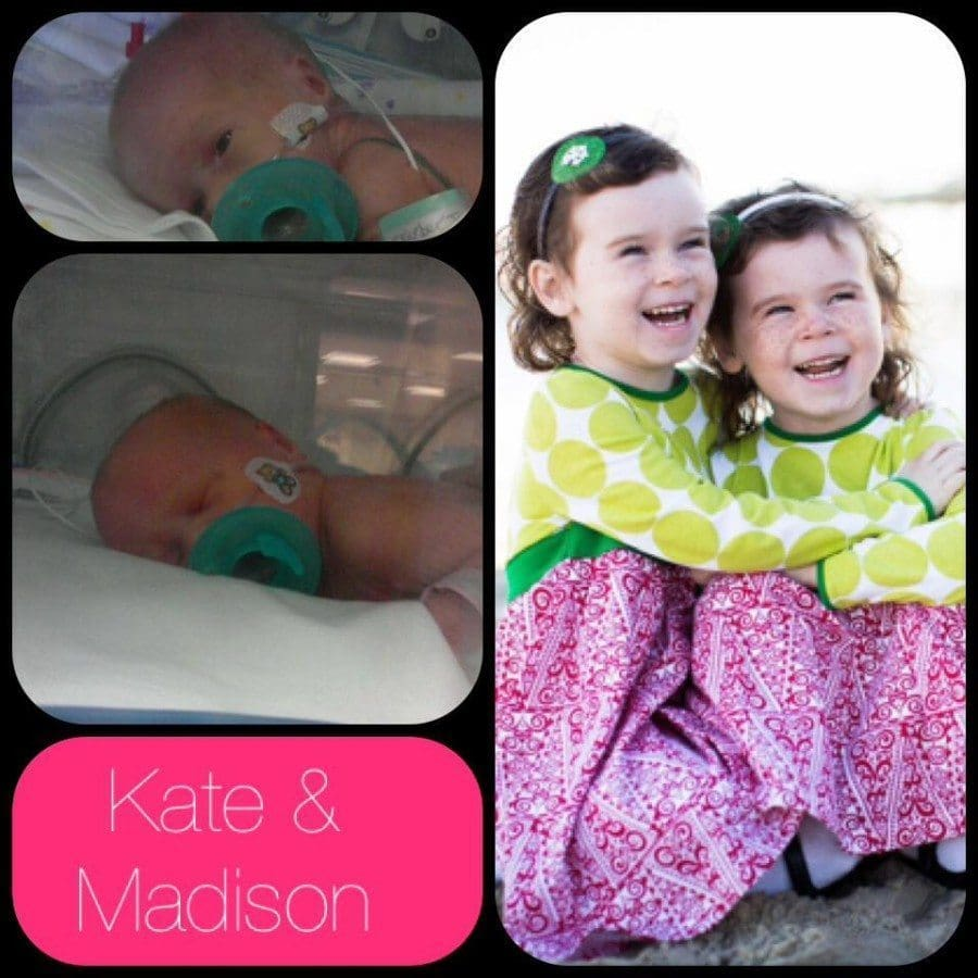 Kate 4.5 oz (stay was one month 4 days....contracted NEC) and Madison 3.1 oz ( stay was 1 month) Now 5 yrs old
