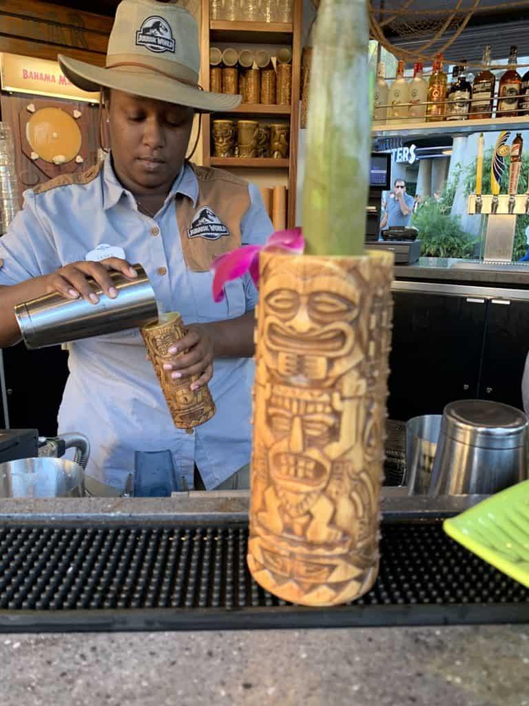 cocktail drink at Isla Nu-Bar at Universal Studios Hollywood