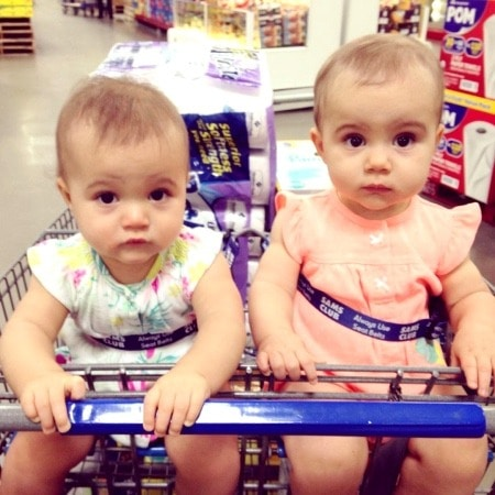 twin toddlers in grocery cart Twins Made Me