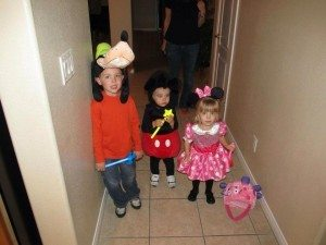 Mickey Mouse, Minnie Mouse & Goofy