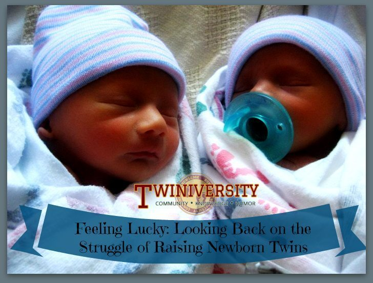 Feeling lucky looking back on the struggle of raising newborn twins