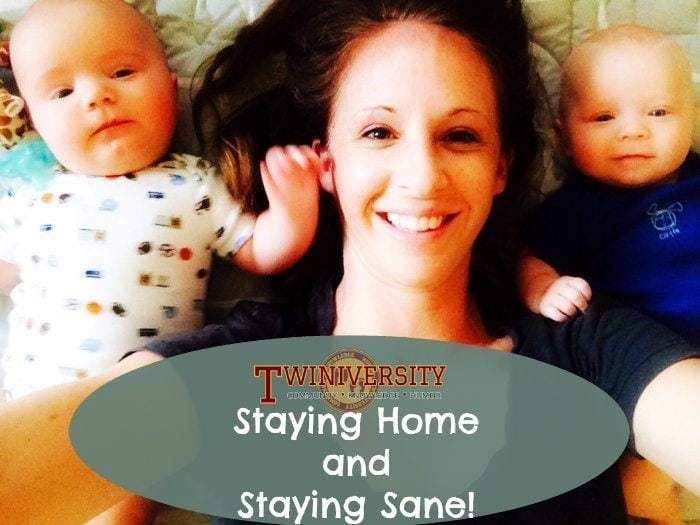 Staying Home with Twins and Staying Sane