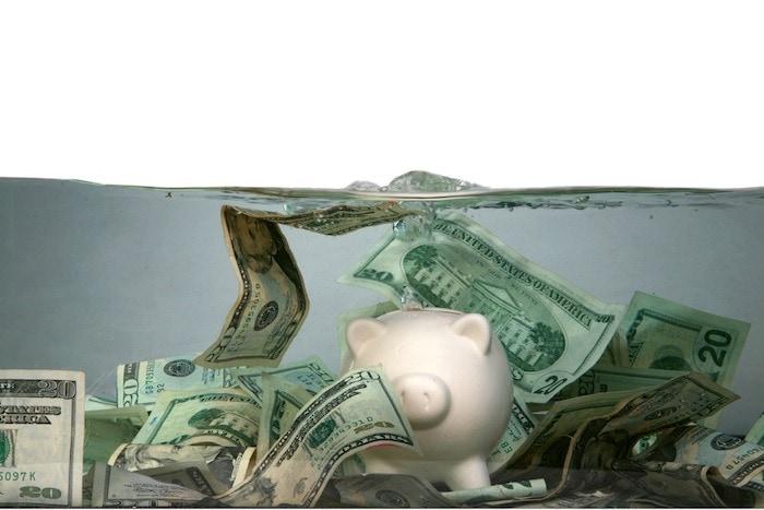 money under water financial crisis