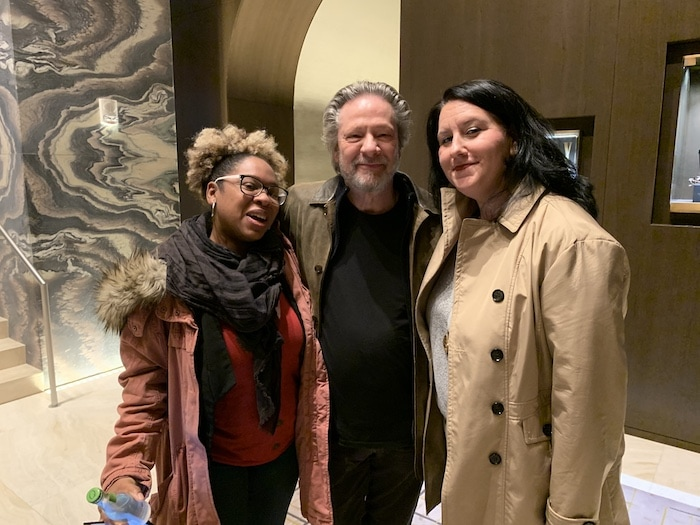 two women and Chris Cooper A BEAUTIFUL DAY IN THE NEIGHBORHOOD