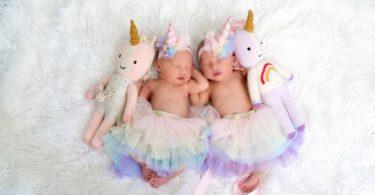newborn twin girls in tutus twin girl names