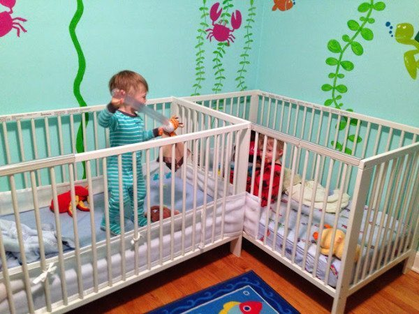 Studio Apartment Nursery preparing a small nursery for twins - twiniversity