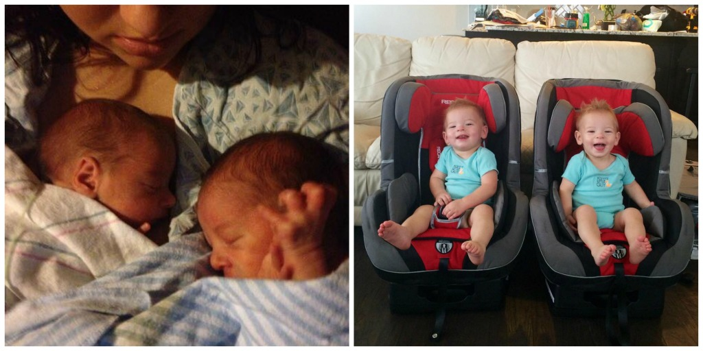Born 33 weeks 2 days. NICU for 15 days with A and 32 days with B. Now 15 months old! preemie twins
