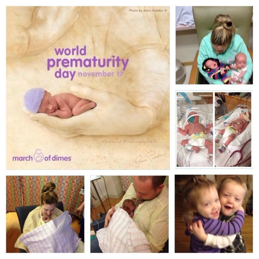 Boy/girl twins Gavin and Ellie born 9 weeks early at 3 and 4 pounds. preemie twins
