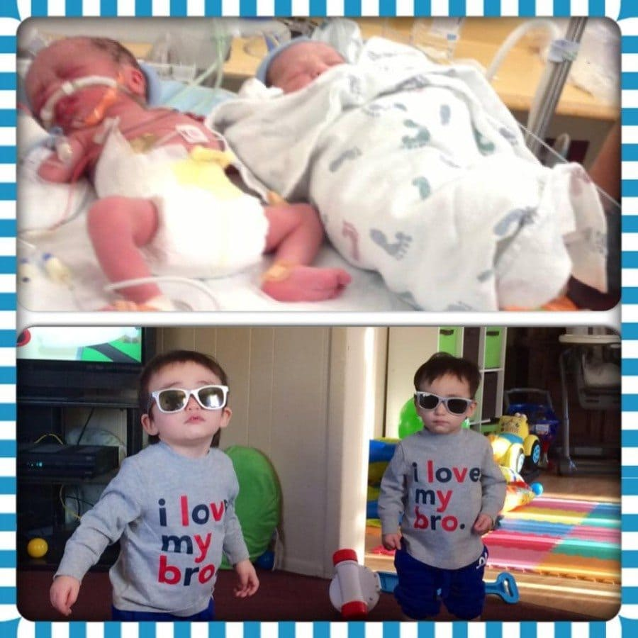 My guys, Roman & Avery - were born 6 weeks early and are now 16 months and thriving & incredible!! Roman was born weighing 3.13 and spent two weeks in the NICU. Avery was 4.15 and was able to come home with us when I was discharged from the hospital.