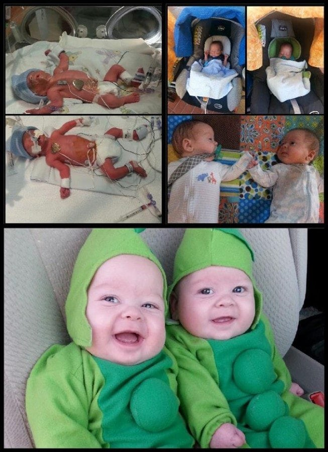 Dallas and Adrian born at 29 +5, spent 7 1/2 weeks in the NICU and are now 6 months and doing great!