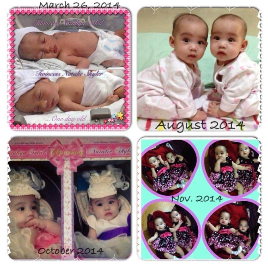 """My """"Grand-Twincesses"""" were born 33 weeks at 3.99lbs and 3.75lbs. They stayed at the hospital for 1 week for tests. God was and is so good that the twincesses and my daughter are strong and healthy up to this day. preemie twins"""