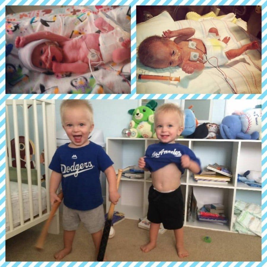 Jonah and Ethan. 28 weekers, 75 days in the NICU. Happy and healthy 19 month olds now.