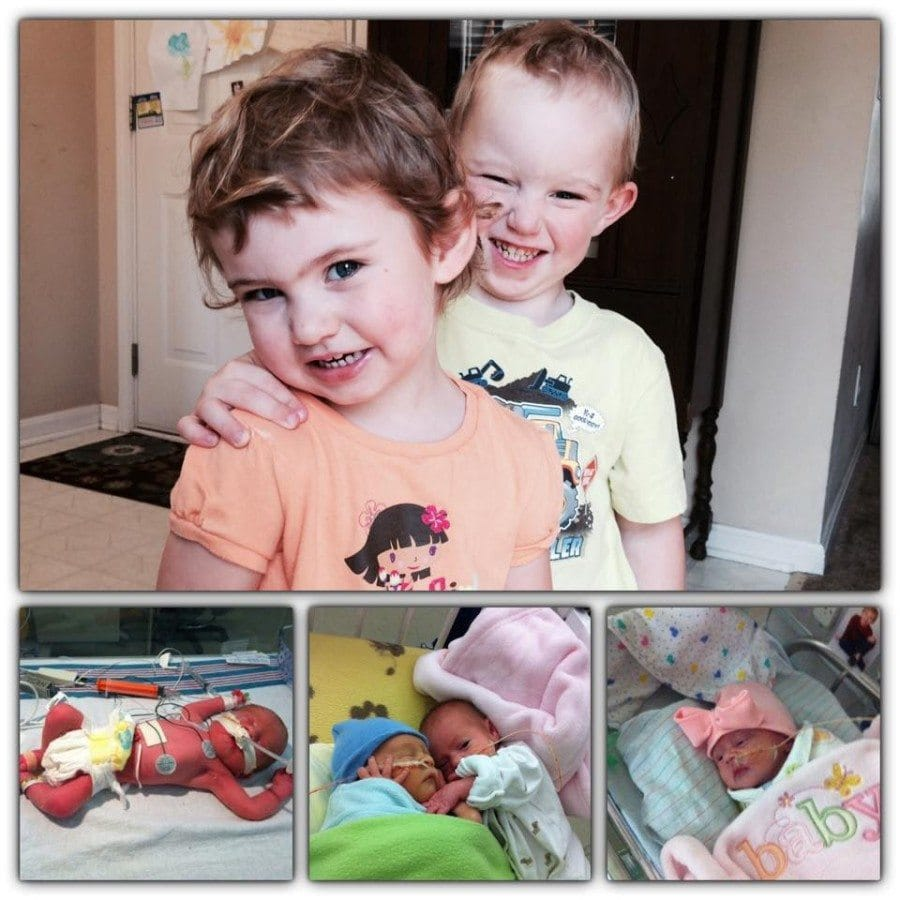My b/g twins were born at 31w 5 days. I was on hospital bed rest for more than a month before they were born. My son was in the NICU for 73 days, he had multiple complications, but thank God he is healthy! My daughter spent 28 days in the NICU, she was a feed and grow baby. They will be 3 next month!