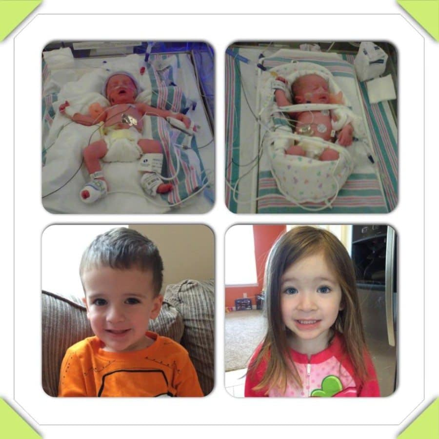 Ashton and Carly were born at 32w4d. He spent 17 days in the NICU and she spent 22 days. They turn 4 next month!