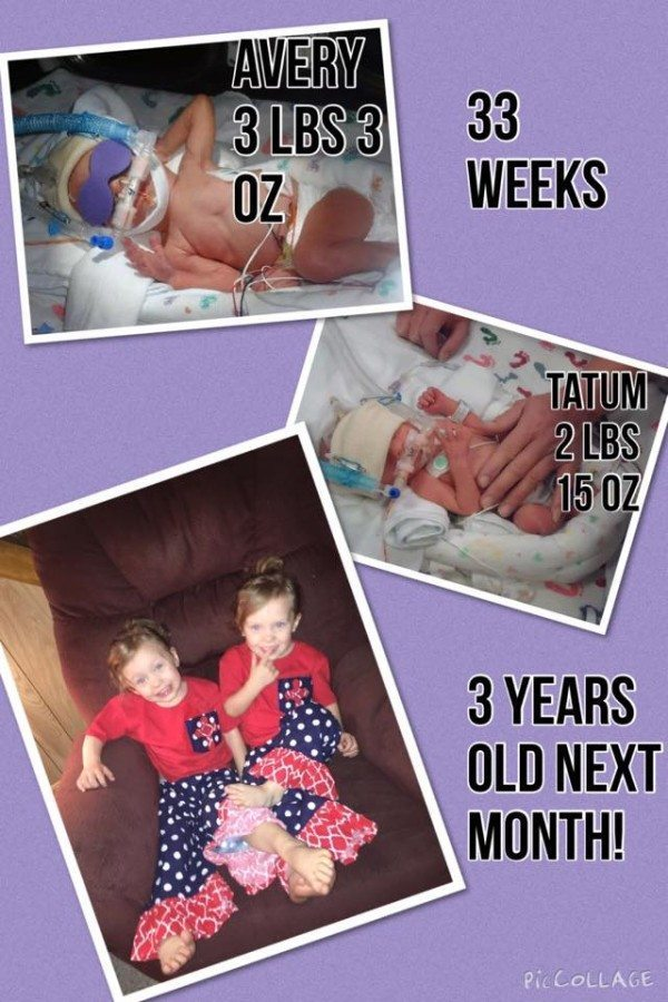 They spent a month in the NICU and came home together! preemie twins