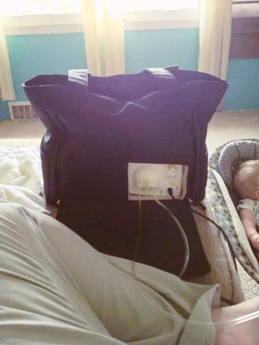 breast pump bag exclusively pumping for twins