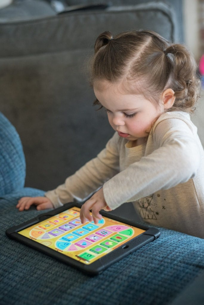 little girl playing video game Apps for Ages 2-6