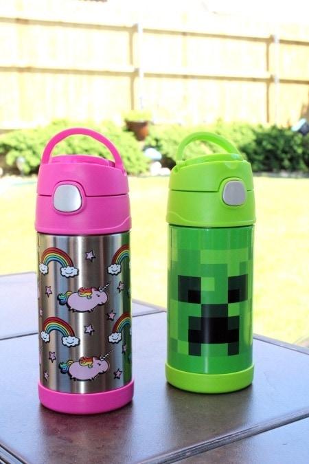 water bottles summer shopping