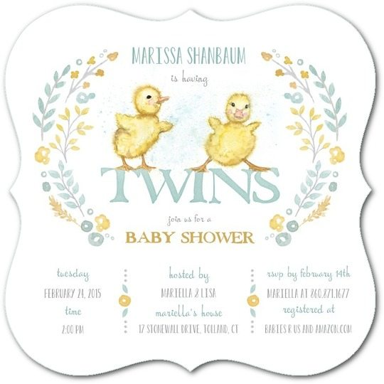 The Best Twins Baby Shower Invites Twiniversity