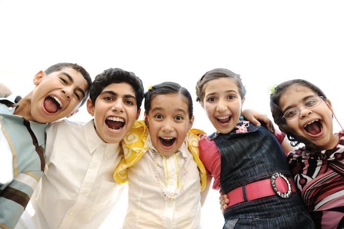junior high school group of kids