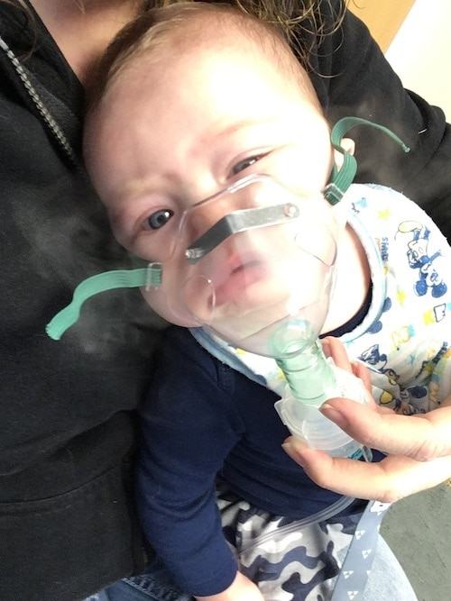 baby using nebulizer cold and flu season